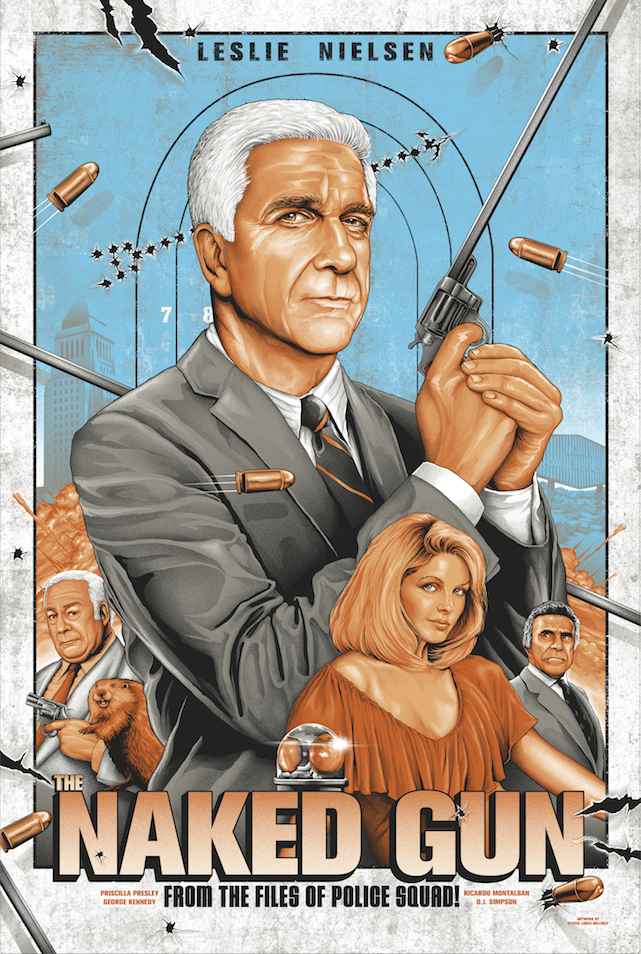 Naked Gun Print by Steven Holliday