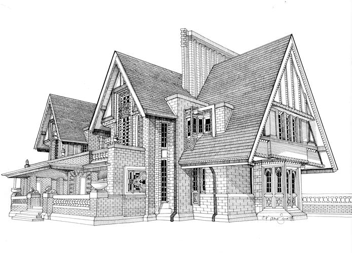 Nathan Moore House Print by Kate Lewis