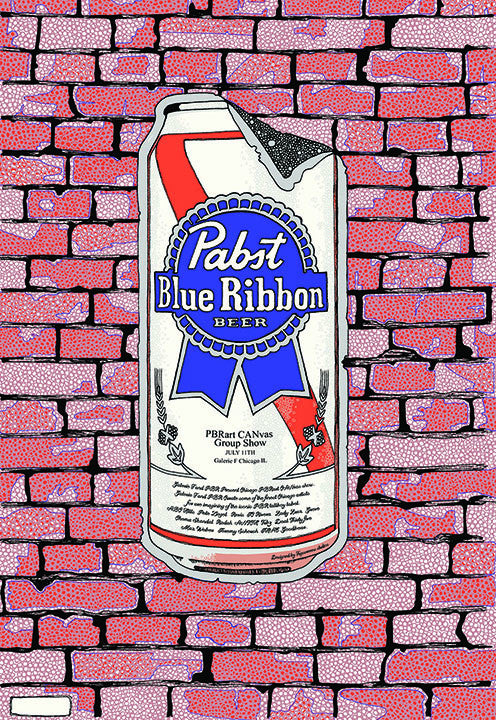 Pabst Blue Ribbon PBR Art Can 2014 Print