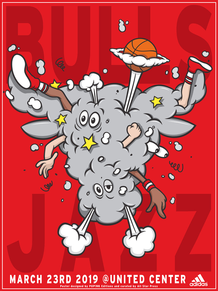 Official Jazz VS Bulls Print by POP!NK Regular