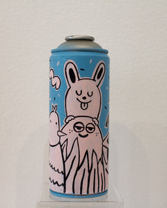 Peaking Bunny Spray Can by Blake Jones