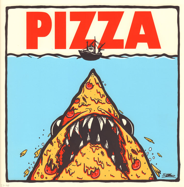 Pizza Jaws Print by Samuel B. Thorne