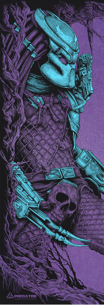 Predator Blue and Purple Print by Steven Holliday