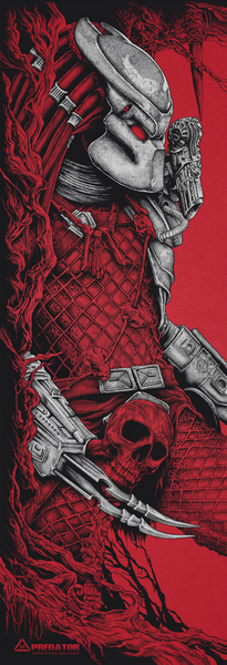 Predator Red and Silver Print by Steven Holliday