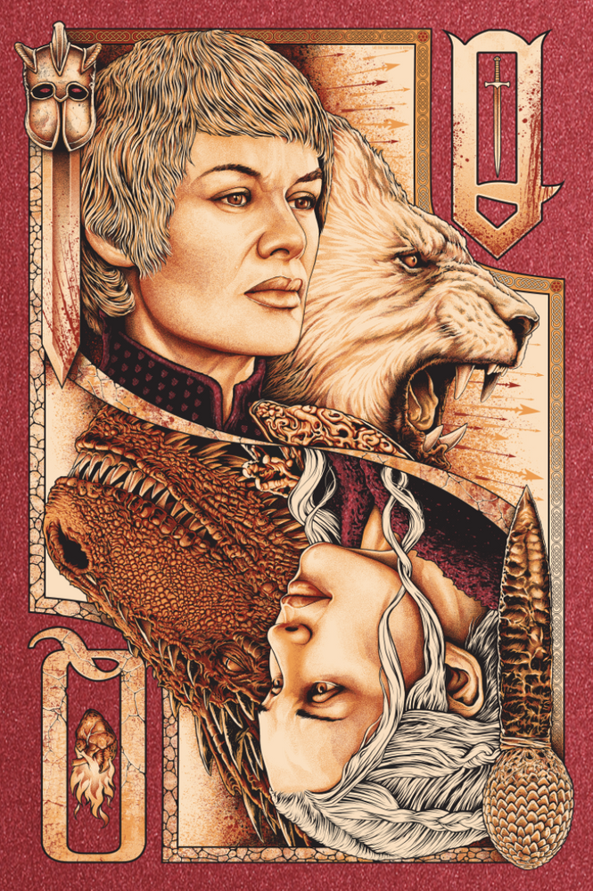 Game of Thrones Red Print by Steven Holliday
