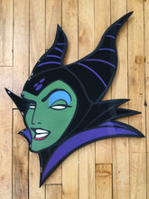 Load image into Gallery viewer, Maleficent Original Wood Cut by R6D4