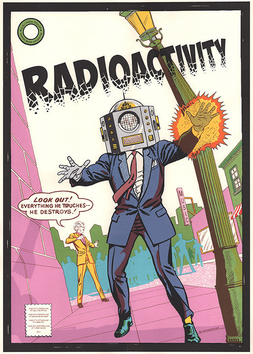 Radioactivity London Tour 2014 Print by Zissou Tasseff-Elenkoff