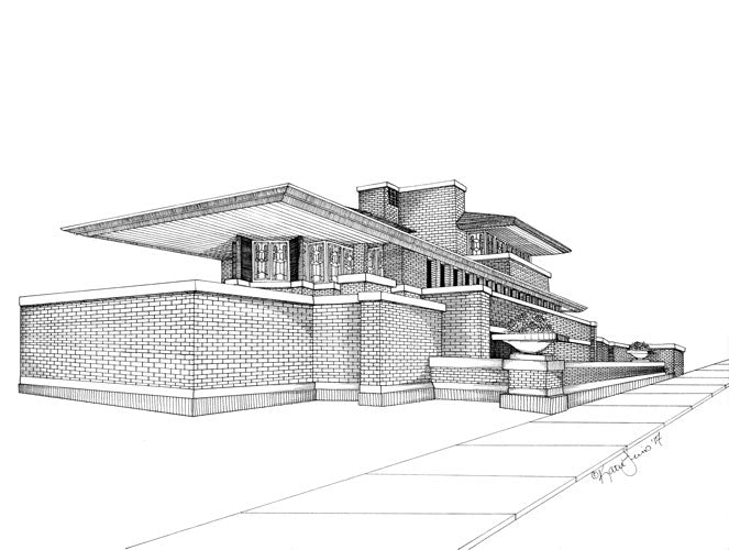 Robie House Print by Kate Lewis