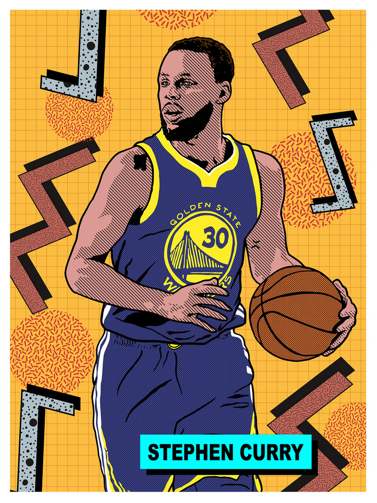 Stephen Curry All Star Print by Adam Shortlidge