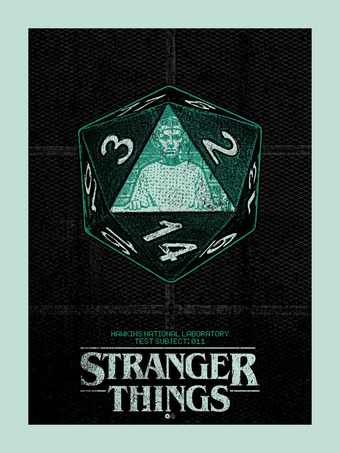 Stranger Things Dice Print by Chris Garofalo