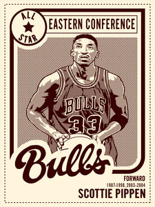 """Scottie Pippen All Star"" by Adam Shortlidge"
