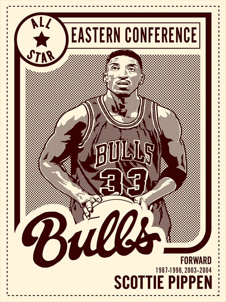 Scottie Pippen All Star Print by Adam Shortlidge