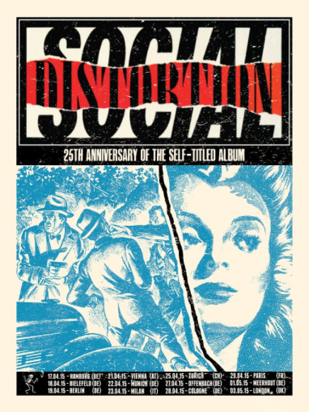 Social Distortion Euro Tour of 2015 Print by Xray of Garageland