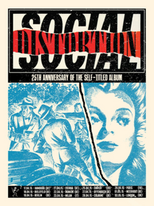 Social Distortion Euro Tour of 2015 Print