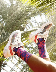 Purple Richie Camo Socks by Ali Six