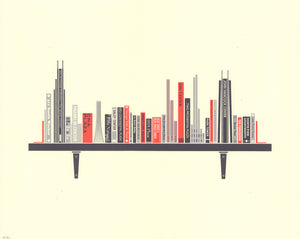 """Bookshelf Chicago Print 2019 Updated Edition"" by Sean Mort"