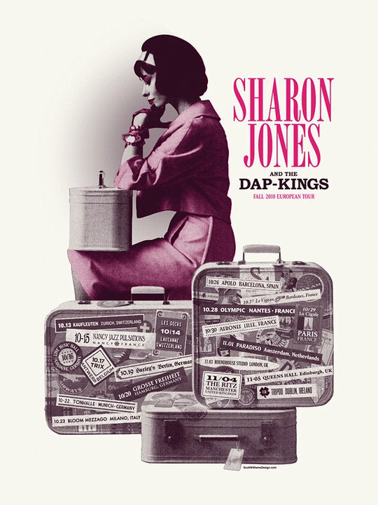 Sharon Jones and The Dap-Kings 2010 Print by Scott Williams