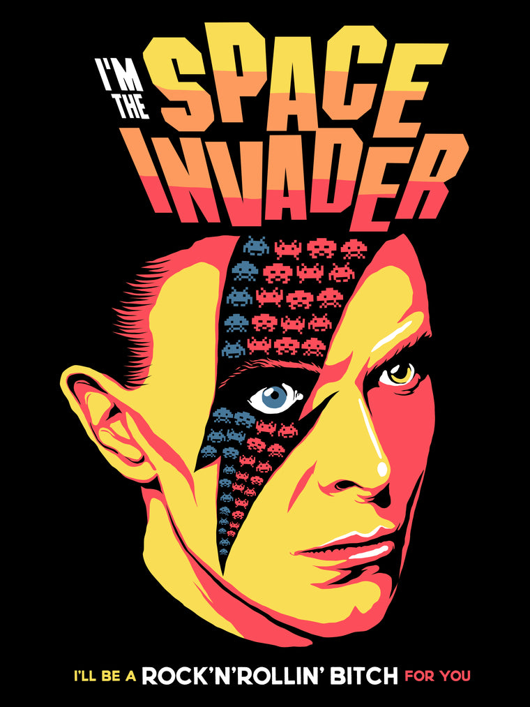 Space Invader - David Bowie by Butcher Billy