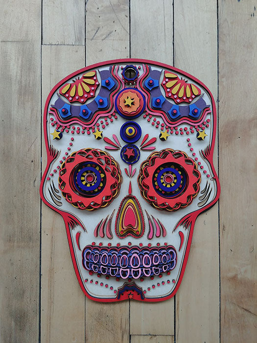 Skull Plaque (Red) by Isabelle Tasseff-Elenkoff