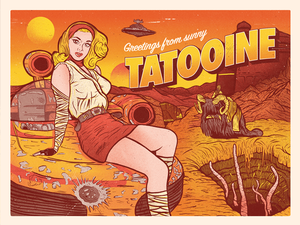 """Tatooine Postcard"" by Samuel B. Thorne"