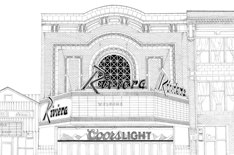 The Riviera Theatre Print by Kate Lewis