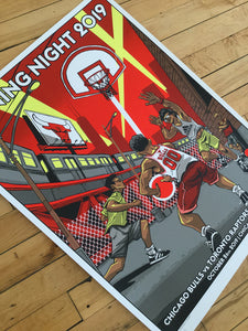"""Officially Licensed Chicago Bulls '19 - '20 Opening Day"" by Tim Doyle"