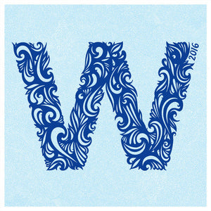 """W for Win - Blue"" by Emmy Star Brown"