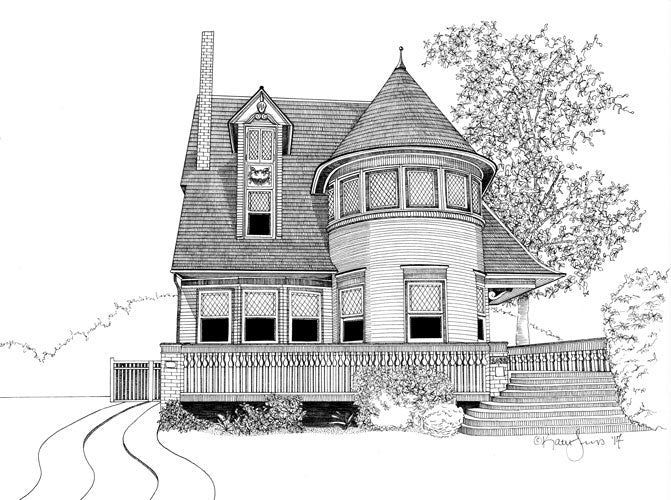 Walter Gale House Print by Kate Lewis