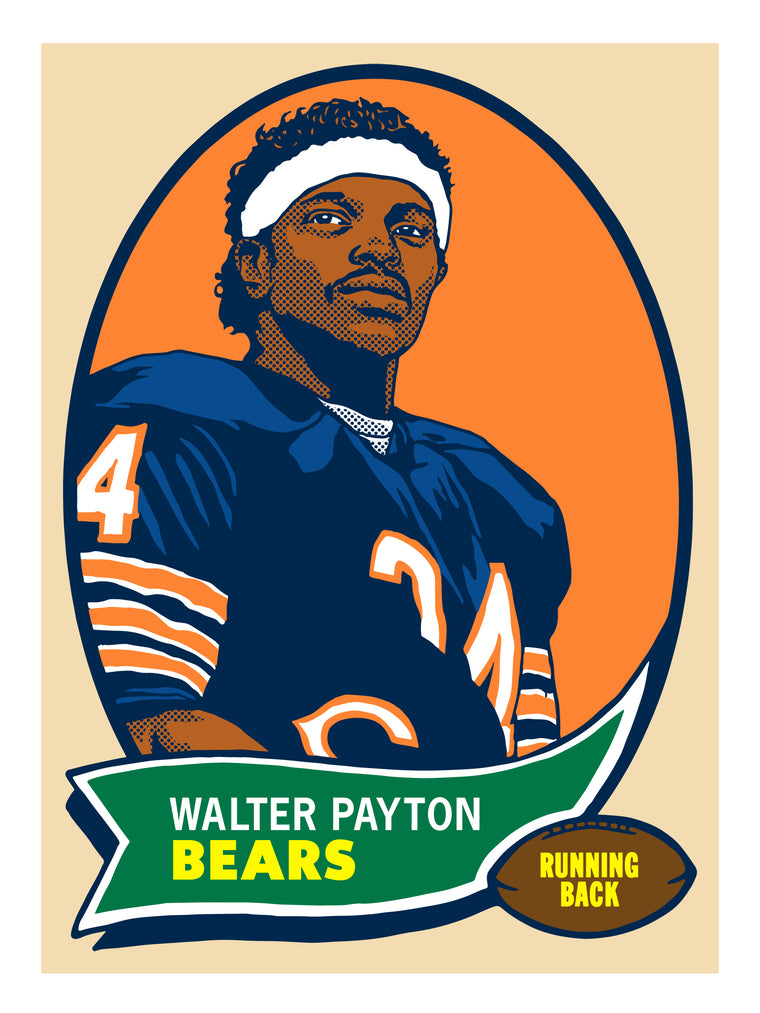 Walter Payton Print by Adam Shortlidge