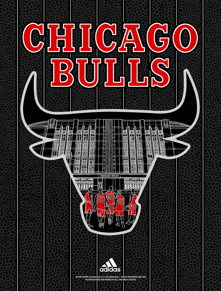 Officially Licensed Chicago Bulls '19 - '20 Statement Print By Zissou Tasseff-Elenkoff