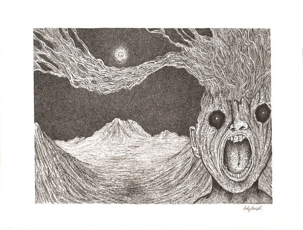 Dread Mountain: Ink on paper Original by Anthony Christopher