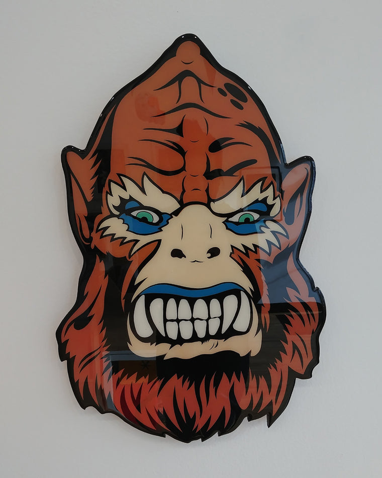 Beast Man Plaque Original by R6D4