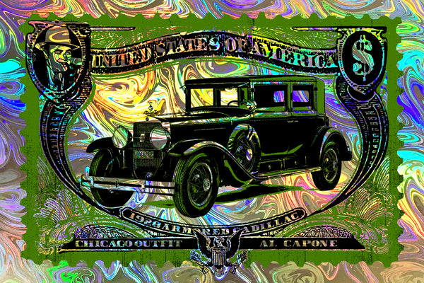 Capone Cadillac Foil // Loaded Guns 2 Exclusive Print by Blunt Graffix
