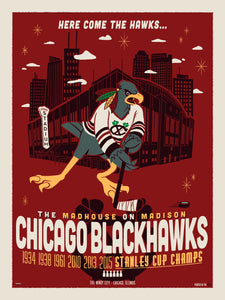 """Here Comes the Hawks"" by Ian Glaubinger"