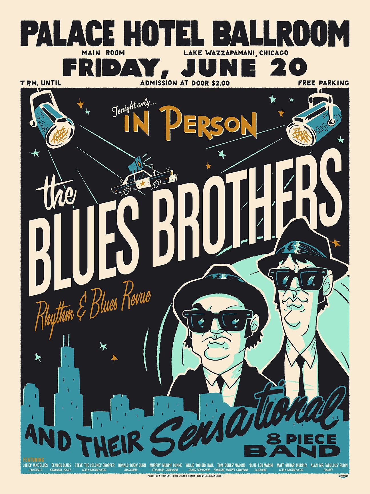 Blues Brother Print by Ian Glaubinger