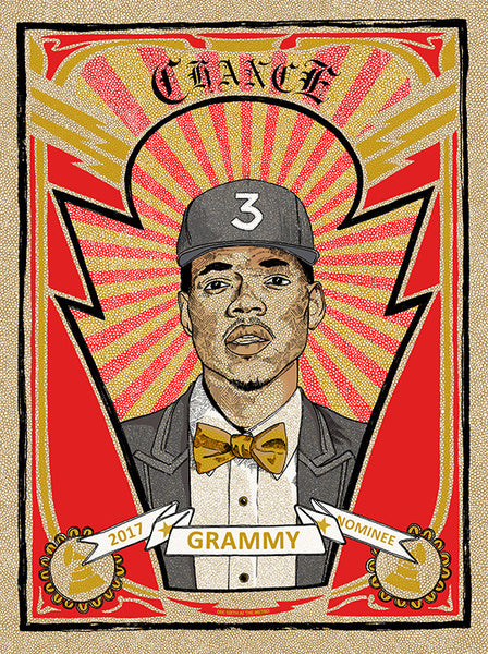 Chance the Rapper Metro Private Grammy Party, Chicago 2017 Print by Zissou Tasseff-Elenkoff