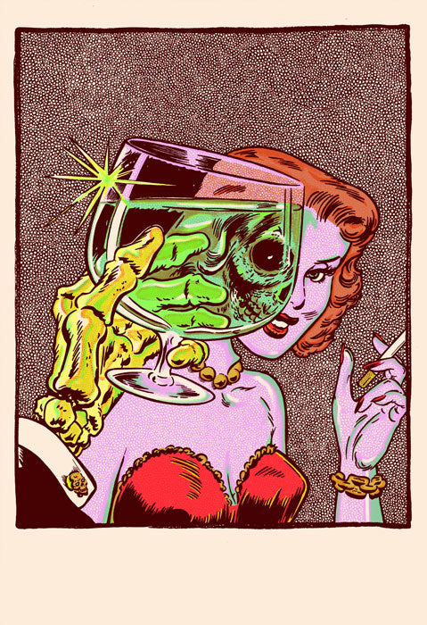 Cheers in Full Color Print by Zissou Tasseff-Elenkoff
