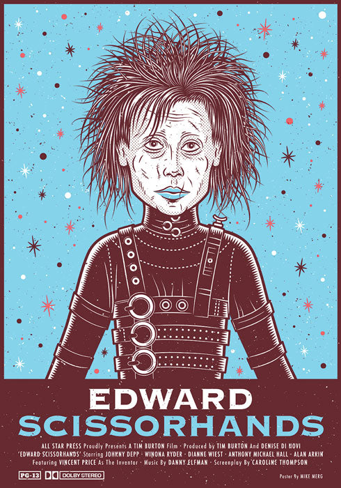 Edward Scissorhands Print by Mike Merg