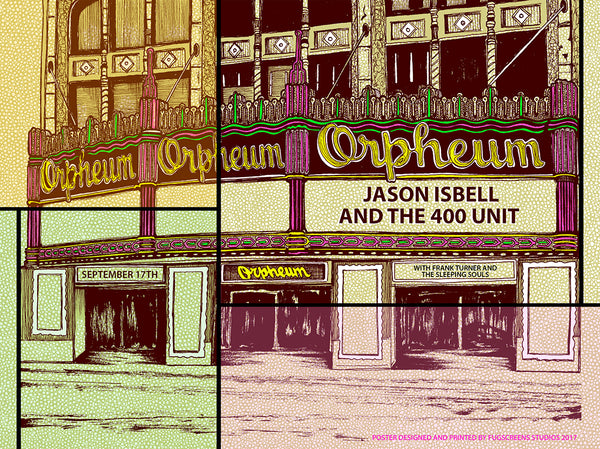 Jason Isbell at the Orpheum 2017 Print by Fugscreens Studios