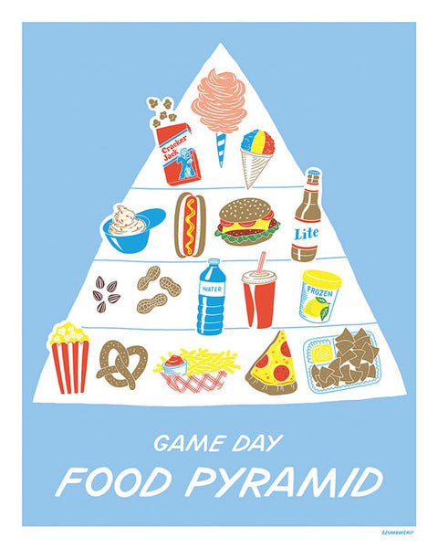 Sports Food Pyramid Print by Laura Szumowski