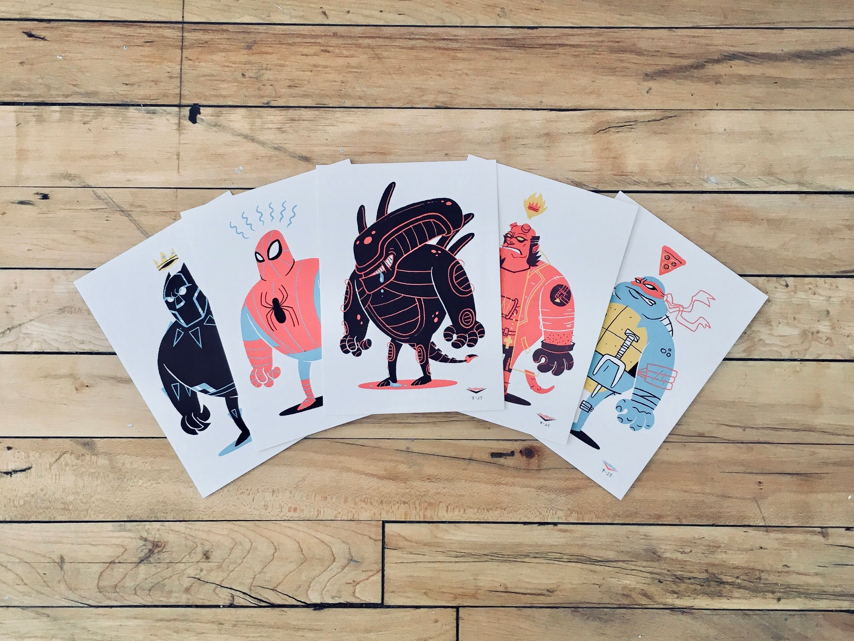 5-Pack Character Mini Print by Ian Glaubinger