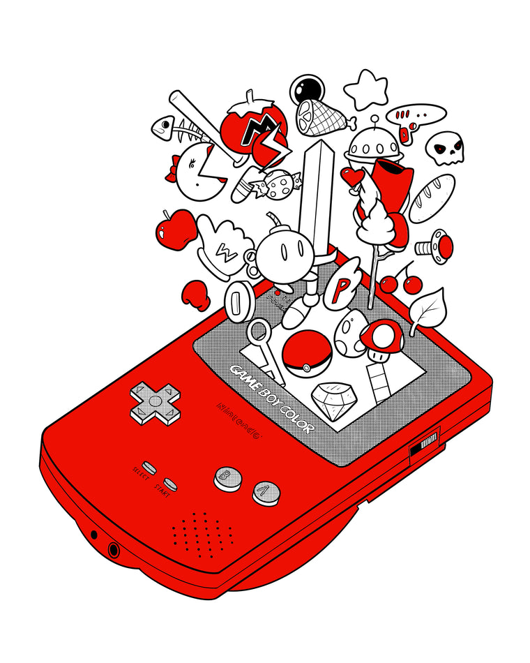 Game Boy Color Print by Jeff Pak