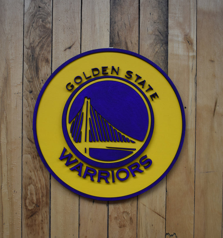 Golden State Warriors Plaque by Isabelle Tasseff-Elenkoff