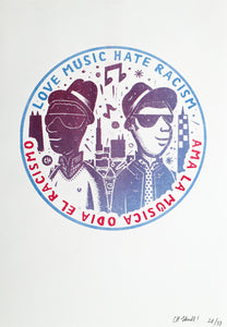 """Love Music Hate Racism"" by CHema Skandal!"