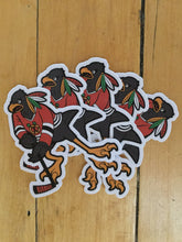 Load image into Gallery viewer, Blackhawks Mascot Sticker Pack by Ian Glaubinger