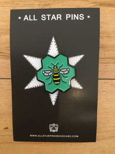 """Worker Bee"" Pin by Sean Mort"