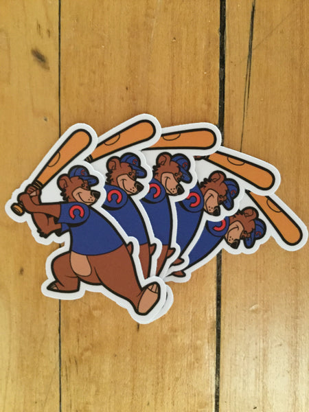 Cubs Mascot Sticker Pack by Ian Glaubinger