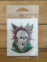 "Load image into Gallery viewer, ""Skull and Cassette"" by Blake Jones X Michelle Wanhala"