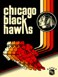 Chicago Blackhawks Print by Jake.psd