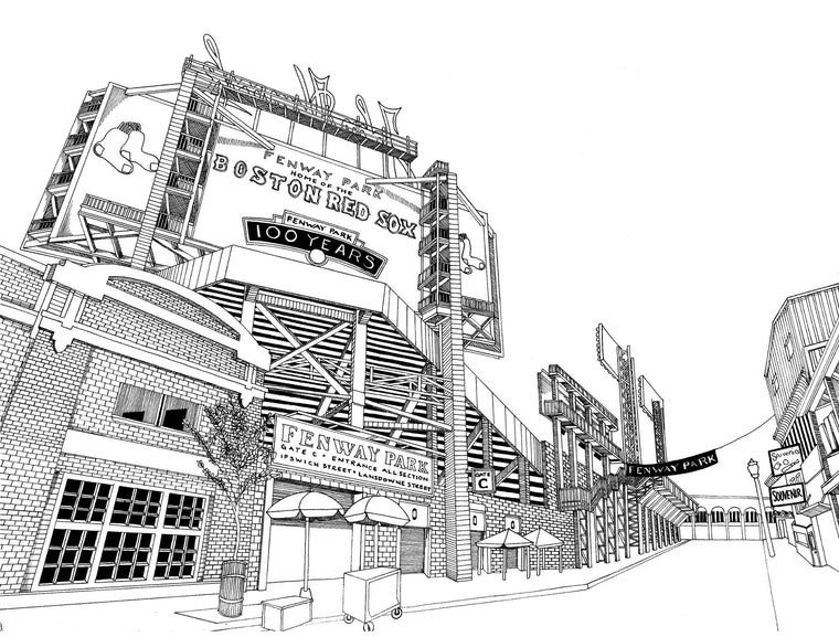 Fenway Park Print by Kate Lewis